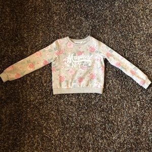 H&M Girls Crew Neck Sweater Roses Size 10/12 M